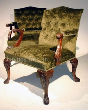 A good pair of 19th Century Mahogany Gainsborough chairs