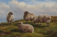 Sheep in a Coastal Landscape