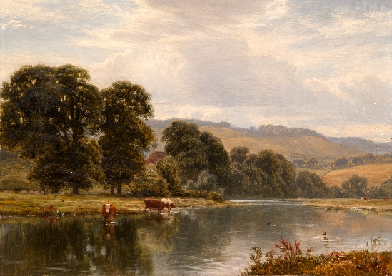 George Cole - Cattle Watering