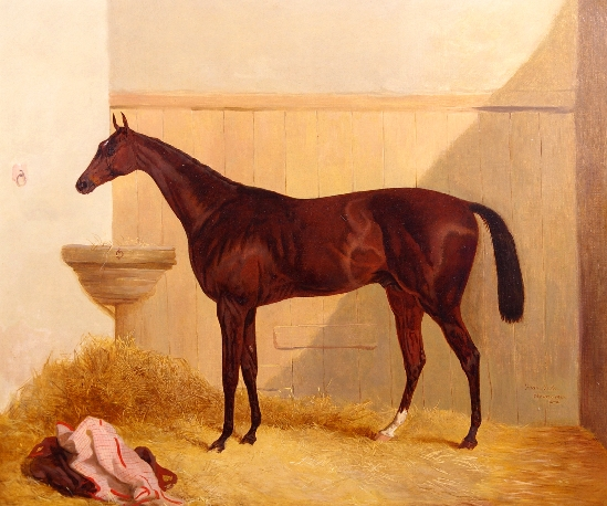 Harry Hall - The Hunter 'Satterly' in a Stable