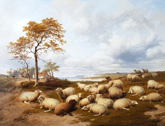 Thomas Sidney Cooper , RA - Sheep grazing on the South Coast