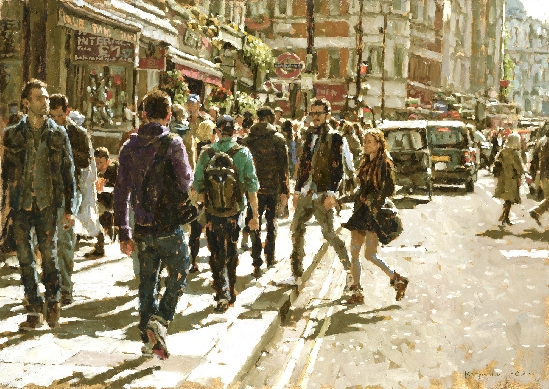 Tony Karpinski London Collection - Towards Leicester Square