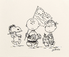 Charles, Linus and Snoopy