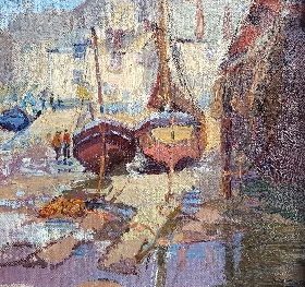 A Cornish Harbour / Shading in the Orchard