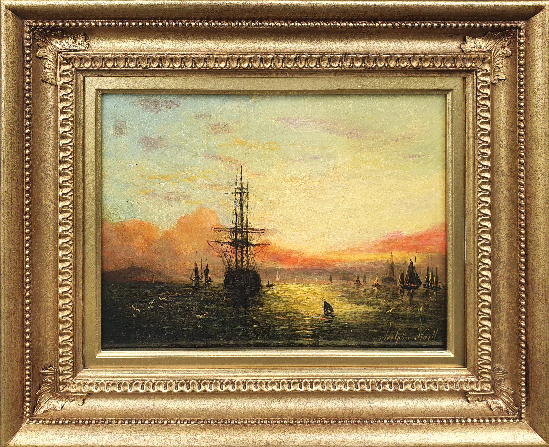 Adolphus Knell - Shipping at Sunset