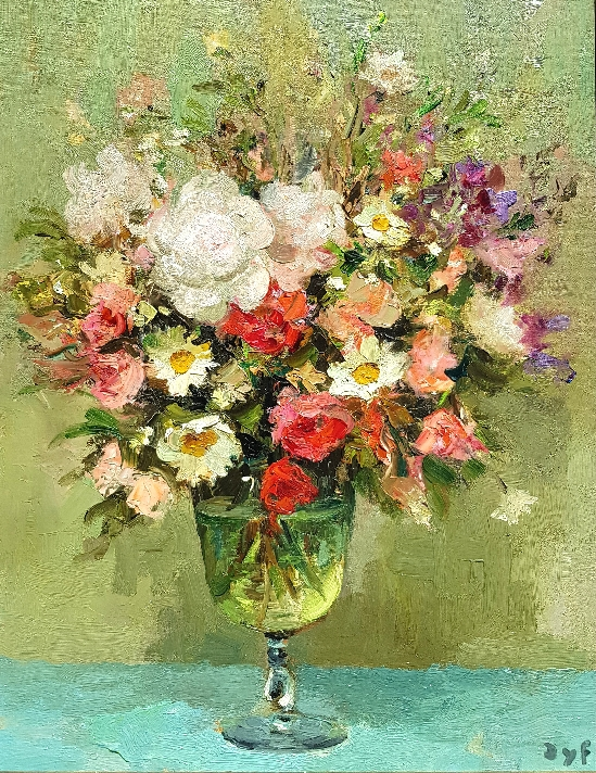 Marcel Dyf - Bouquet of Pivoines