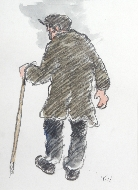 Standing Farmer with Stick