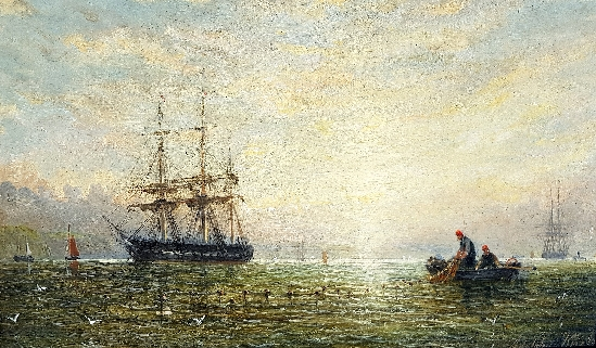 Adolphus Knell - Shipping at Daybreak