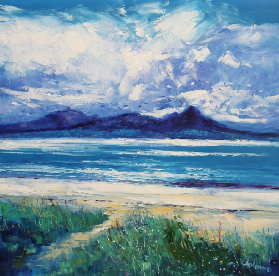 John Lowrie Morrison - Jolomo - Summerlight, Grogport Beach, Looking to Arran