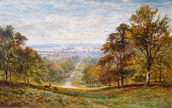Alfred Augustus Glendening, Snr. - Windsor Castle from the Long Walk