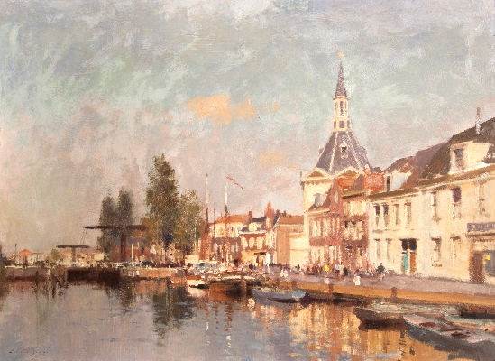 Edward Brian Seago - The Lock at Liedschendam, Holland