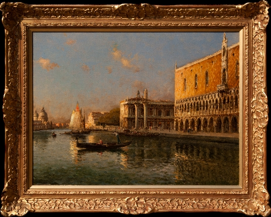 Antoine Bouvard. Snr - Sunset View of Doge's Palace, Venice