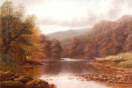 William Mellor - Calm Waters Along the Wharfe