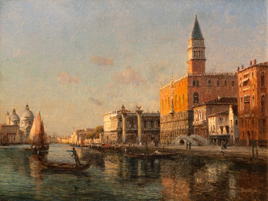 Antoine Bouvard. Snr - St. Mark's Square and The Doge's Palace