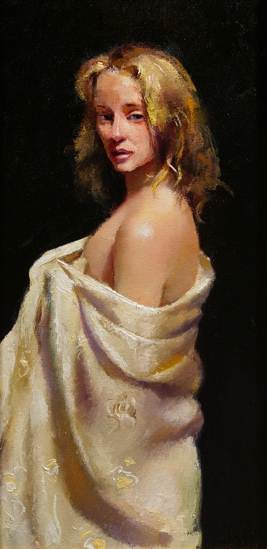 Robert Oscar Lenkiewicz - Girl in Ivory Shawl