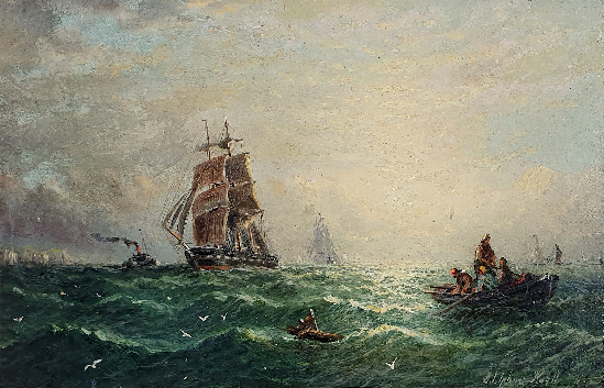 William Adolphus Knell - Shipping off the Coast