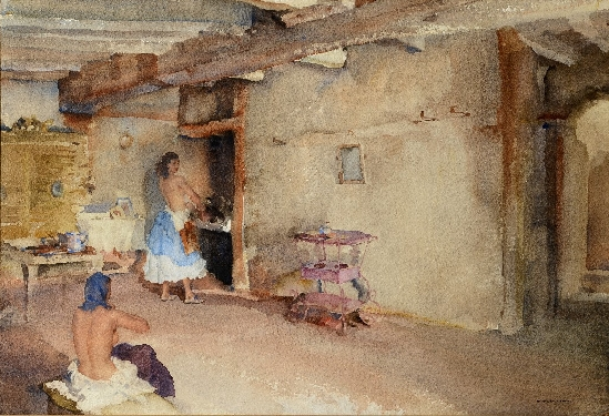 Sir. William Russell Flint - The Starched Petticoat