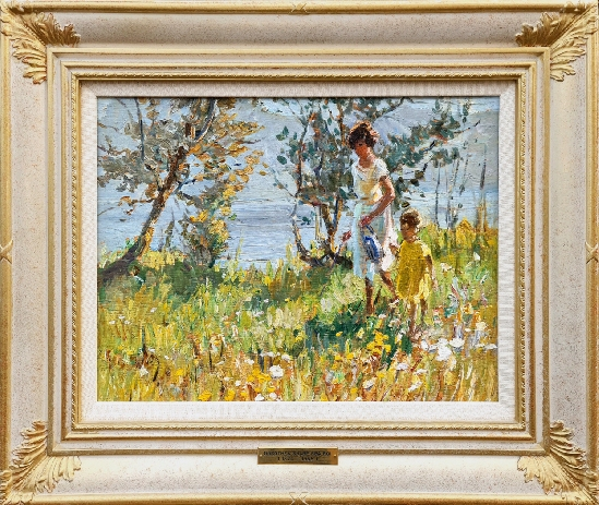 Dorothea Sharp ROI, RBA, PSWA - Walking Amongst Wild Flowers