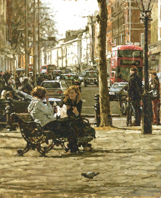Tony Karpinski London Collection - Lunchtime Chat