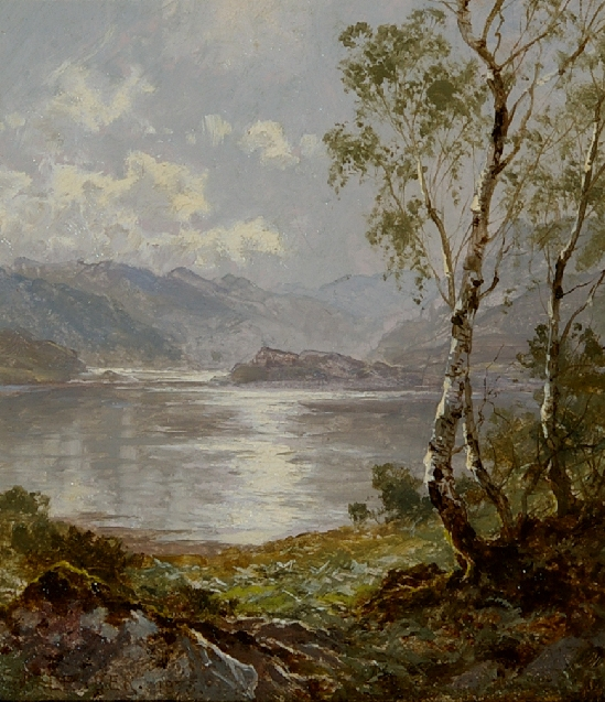 Benjamin Williams Leader - On the banks of Derwent water