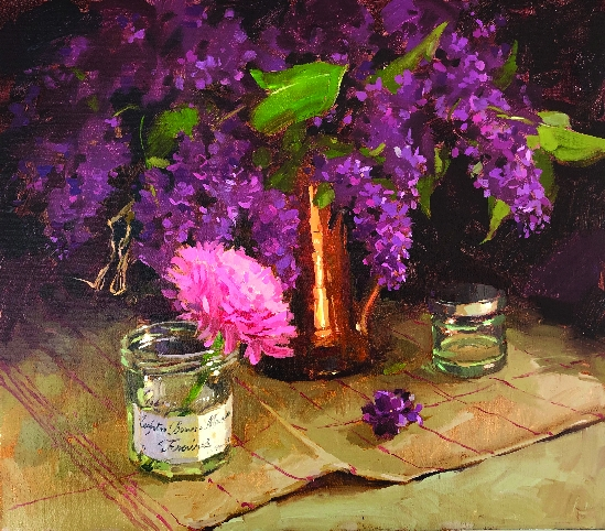 Haidee-Jo Summers ROI RSMA - Ranunculus and Lilacs from the Garden