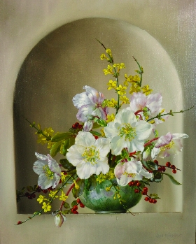 Still Life of Flowers in a Chinese Bowl