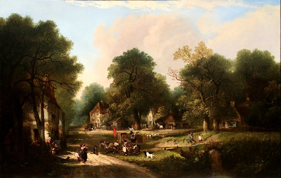 Edward Charles Williams - A Woodland Village in The New Forest