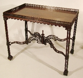 A Graceful Silver Table in the Chippendale Manner