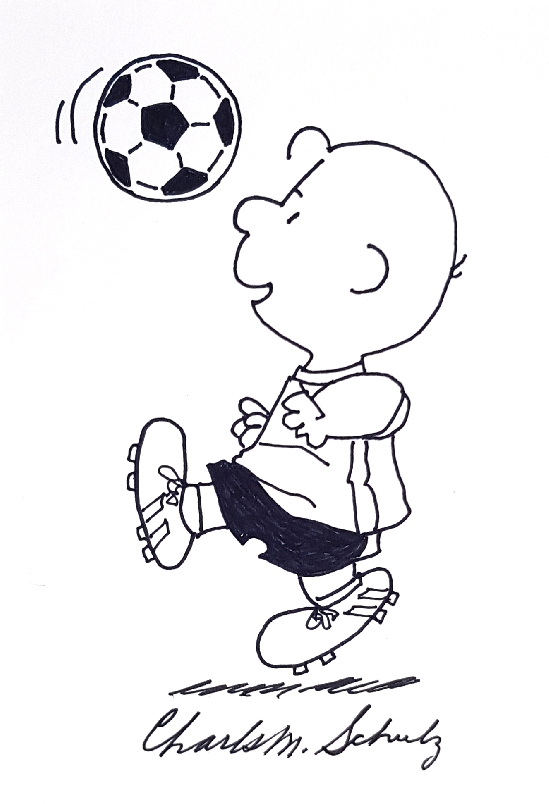 Charlie Brown playing soccer