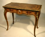 A Fine 19th Century Serpentine Foliate Marquetry and Ormolu Mounted Card Table