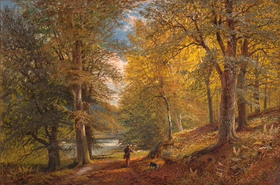 Alfred Augustus Glendening, Snr. - Along the Woodland Path