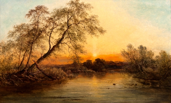 George Augustus Williams - A Tranquil Evening
